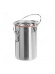 Безопасный переносной контейнер для лаб. посуды 500-1000 мл, нержавеющая сталь 18/10, h=250 D=130/160 2л. (8301SS)