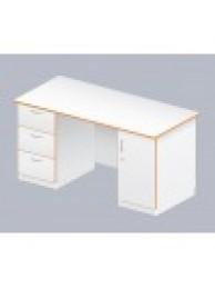Стол Лаб-Ом-08 двухтумбовый (меламин, 1500х700х760)