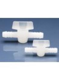 Кран 2-ходовой для шлангов с внутр. диам. 3/8 / 9 мм, пластиковый PE (75193) (Vitlab)