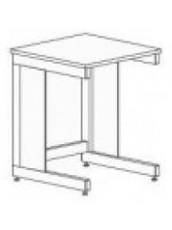 Стол-приставка 600 СПп-М (пластик)