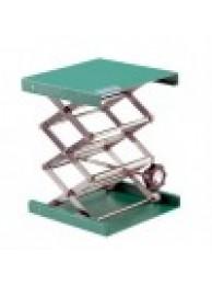 Подъемный столик MAXI, алюминий, зеленый цвет, ДхШхВ 200х200х75/400 (11032)